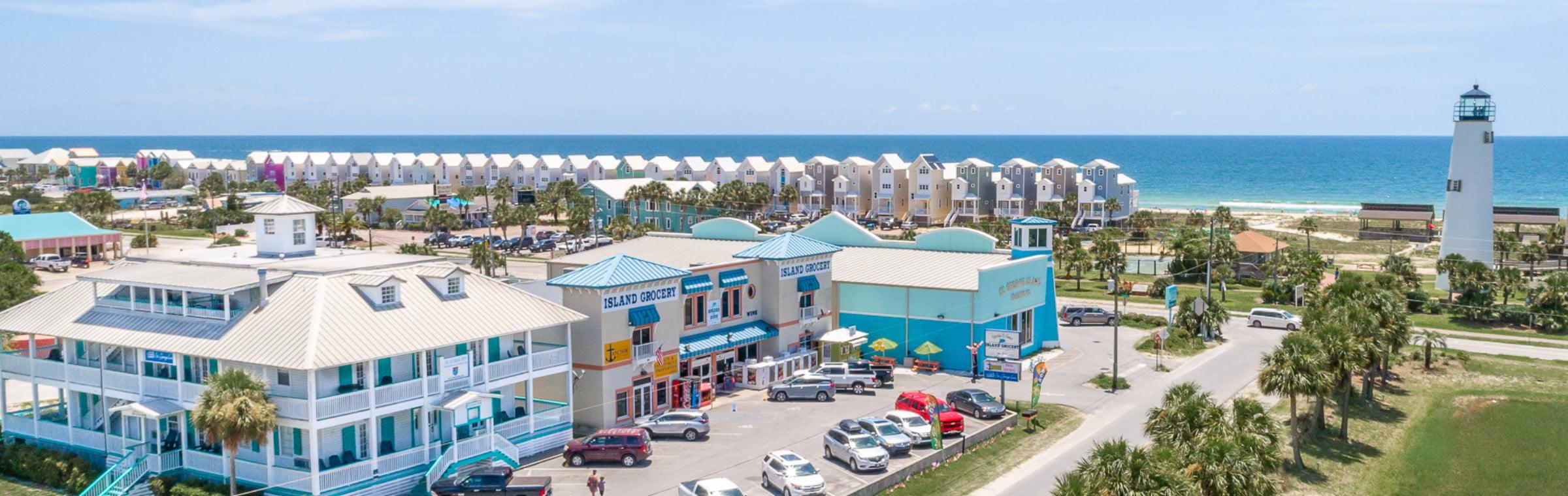 aerial view of st george island fl