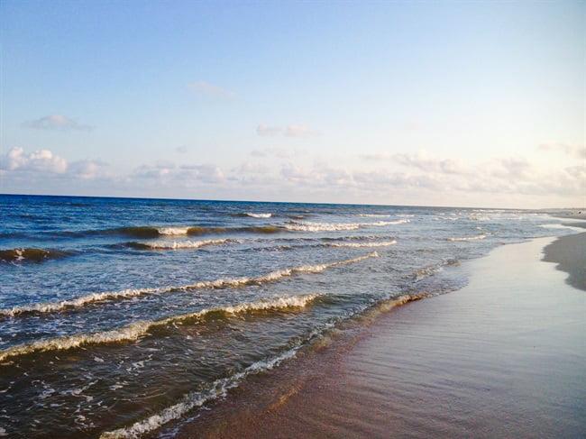 beach and waves on st george island fl