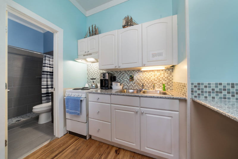 kitchen in a room on st george island