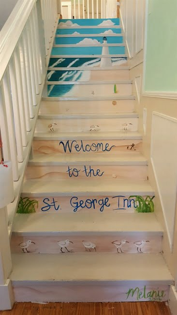 welcome to the inn stairs